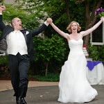 bride & groom celebrate